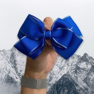 4/$20 ✨ HANDMADE BLUE BOW CLIP